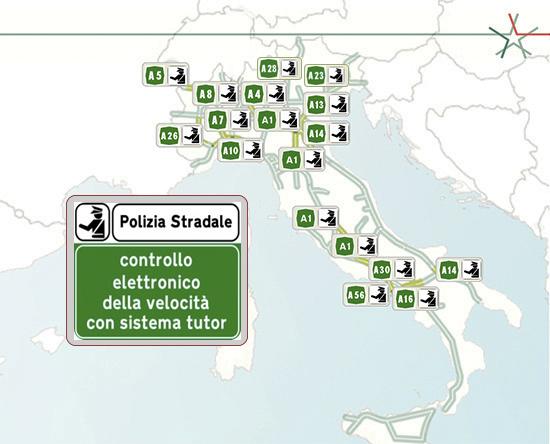 TUTOR Ecco la mappa di quelli attivi nel 2020 a cura della polizia stradale