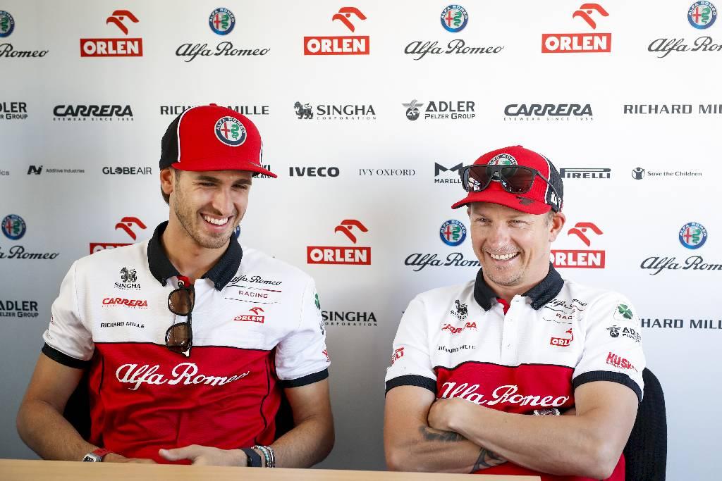 Kimi Räikkönen e Antonio Giovinazzi in pista con Alfa Romeo Racing ORLEN anche nel 2021