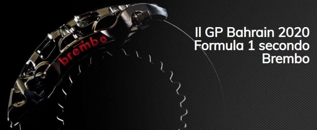 Brembo racconta tutto ciò che c'è da sapere sull'impegno dei sistemi frenanti in vista del GP del Bahrain 2020
