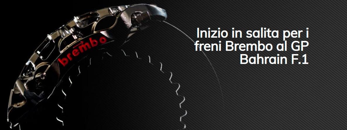 Brembo racconta tutto ciò che c'è da sapere sull'impegno dei sistemi frenanti in vista del GP del Bahrain 2021