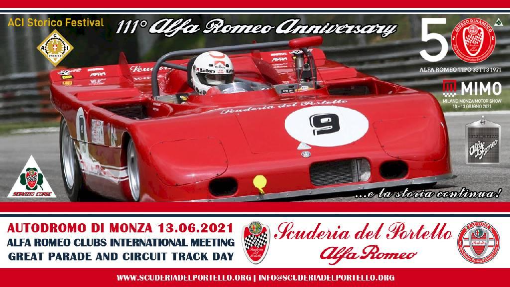 111° ALFA ROMEO ANNIVERSARY – AUTODROMO NAZIONALE MONZA 13.06.2021