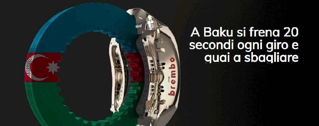 Brembo racconta tutto ciò che c'è da sapere sull'impegno dei sistemi frenanti in vista del GP dell'Azerbaigian 2021
